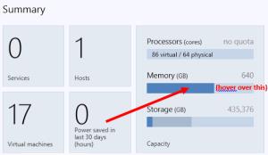 Host Memory Status1